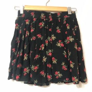 BRANDY MELVILLE Flare Mini Skirt Floral One Size